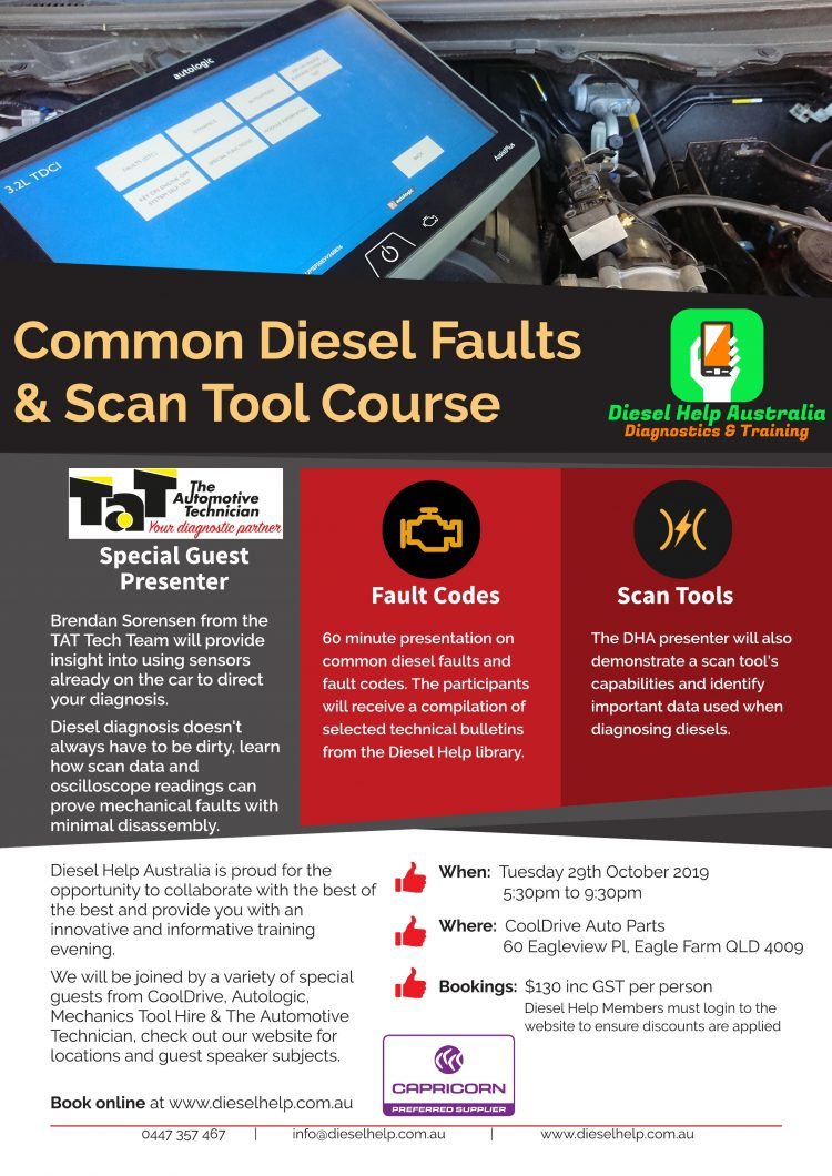 Common Diesel Faults and Scan Tools